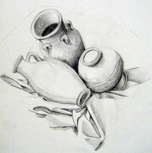 گل برای گلدان بلند آموزش - my painting with color pencil